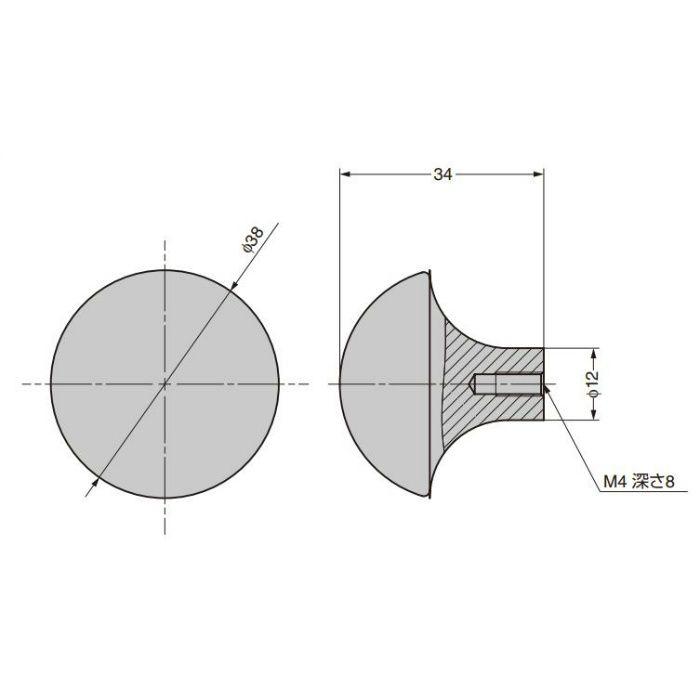 つまみ CAKB-I-3770-38-I C&Aウェールズデザイン CAKB-I-3770-38-I