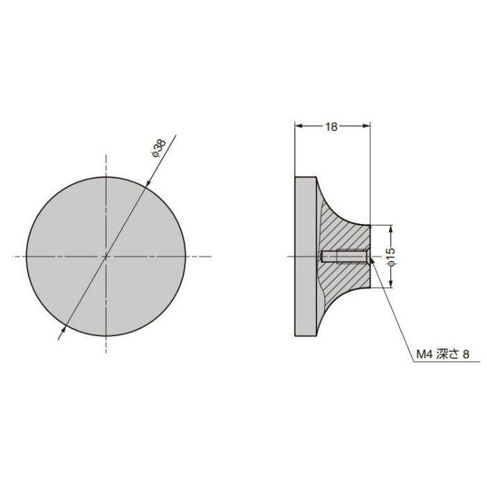 つまみ CAKB-I-3872-38-I C&Aウェールズデザイン CAKB-I-3872-38-I