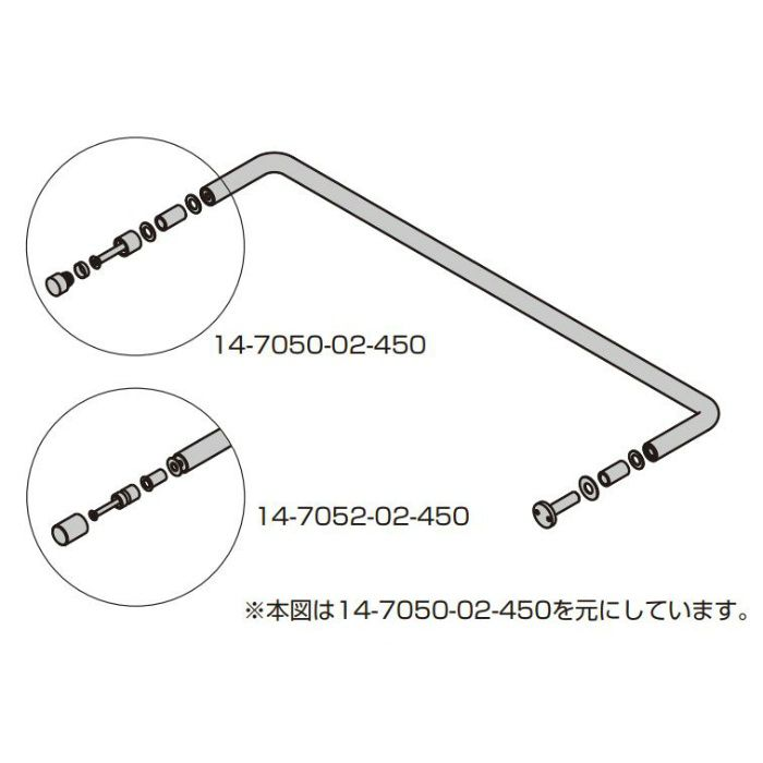 d line 戸当り付ハンドル 14-705型 14-7050-02-450