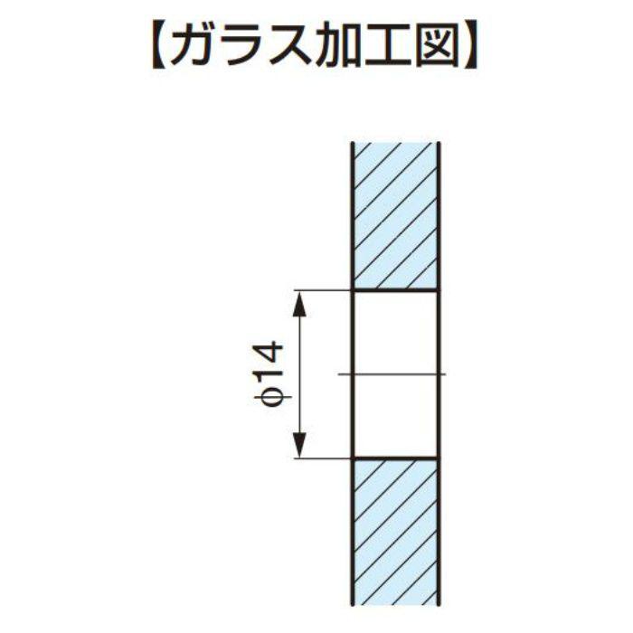 P&S ノブ ガラスドア用 8278MS7 8278MS7 2ヶ(両面付け)