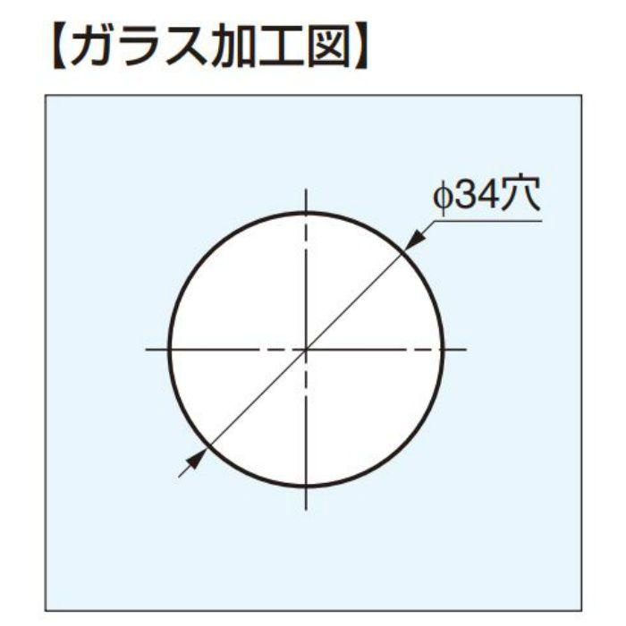 ガラスドア用引手 M5B01型 M5B01-13 2ヶ(両面付け)
