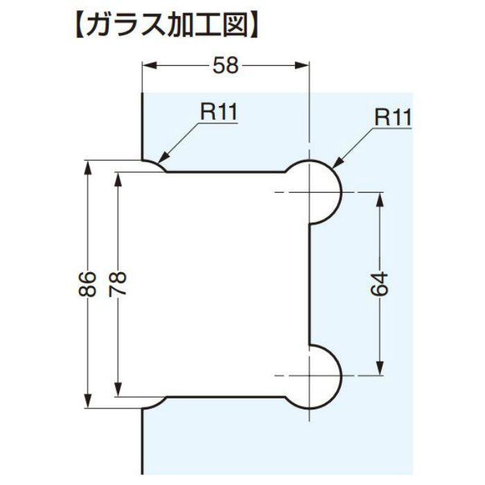 ガラスドア用引手 MSC7型 MSC7-S