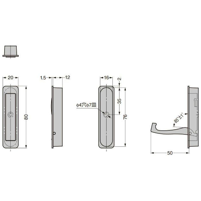 ランプ印 収納フック 6607-6型 6607-636