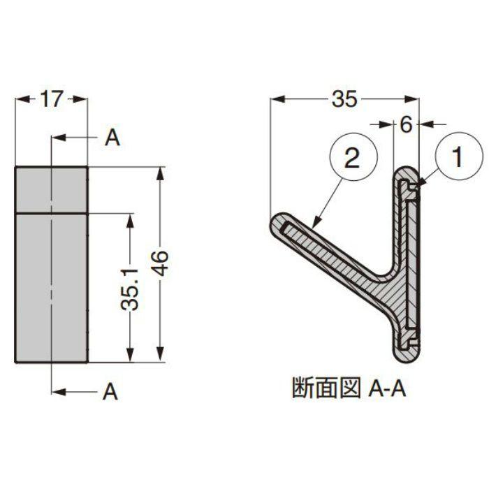 ランプ印 フック PXB-GN05M-101型 マグネットタイプ ノルディックラバー®シリーズ セット グリーンイエロー PXB-GN05M-101-GY