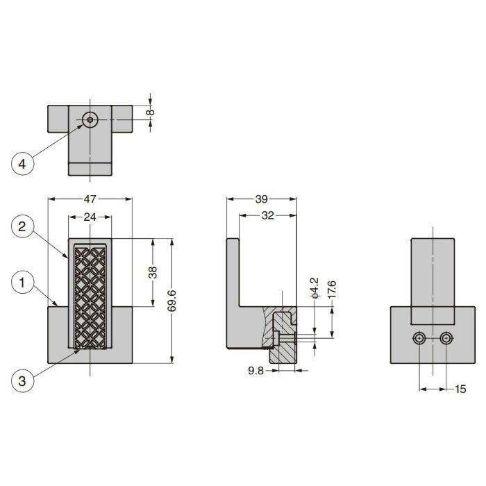 ランプ印 フック PXB-UM05-101-Q1型 アーバンメタルクエストシリーズ PXB-UM05-101-Q1-BL