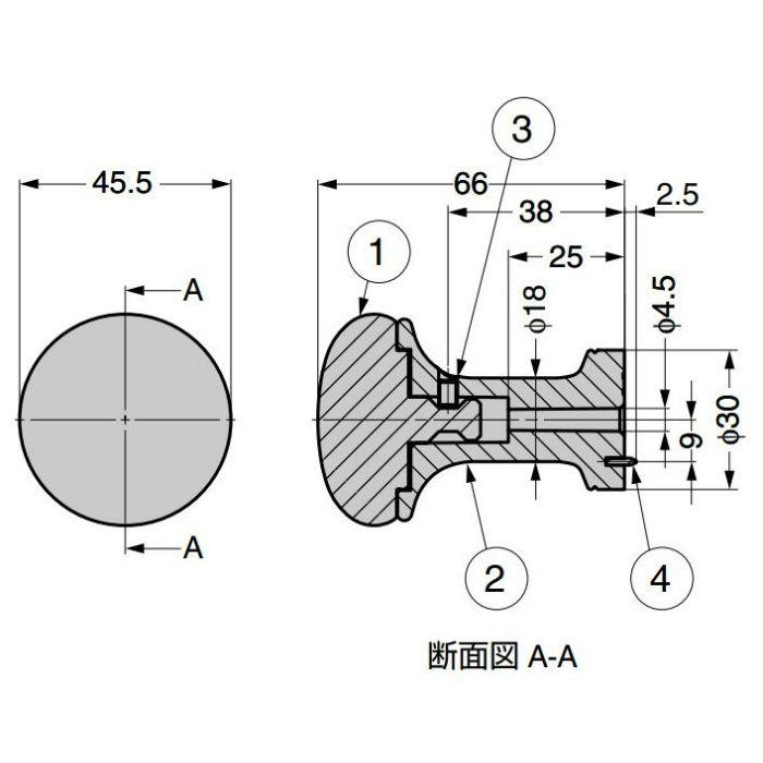 ランプ印 フック PXB-LE05-111型 レザリーシック シリーズ PXB-LE05-111-TN