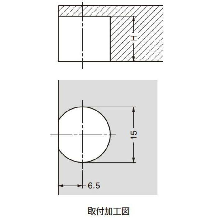 ITALIANA 棚受 IT2574型 簡易固定機能付 棚ダボ IT2574-50