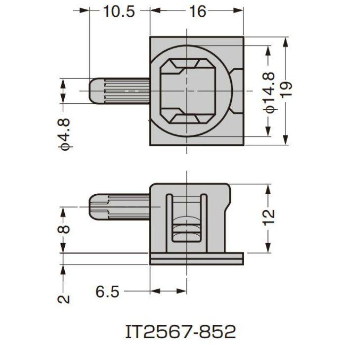 ITALIANA 棚受 IT2567型 固定機能付 IT2567-852