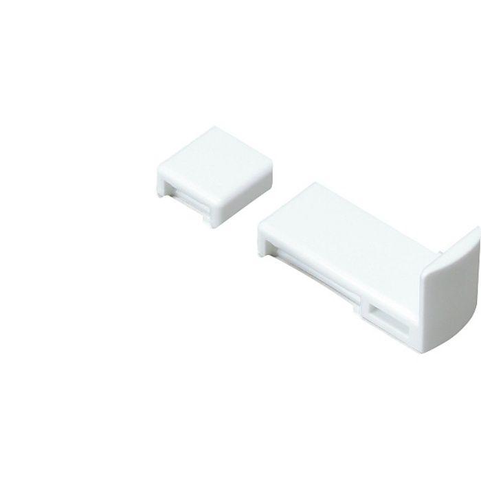 ランプ印 棚ズレ防止棚受 AP-FA20型 ステンレス鋼製棚柱 SPE型、アルミ製棚柱 AP-DM型、AP-DH型用 ホワイト AP-FA20-WT