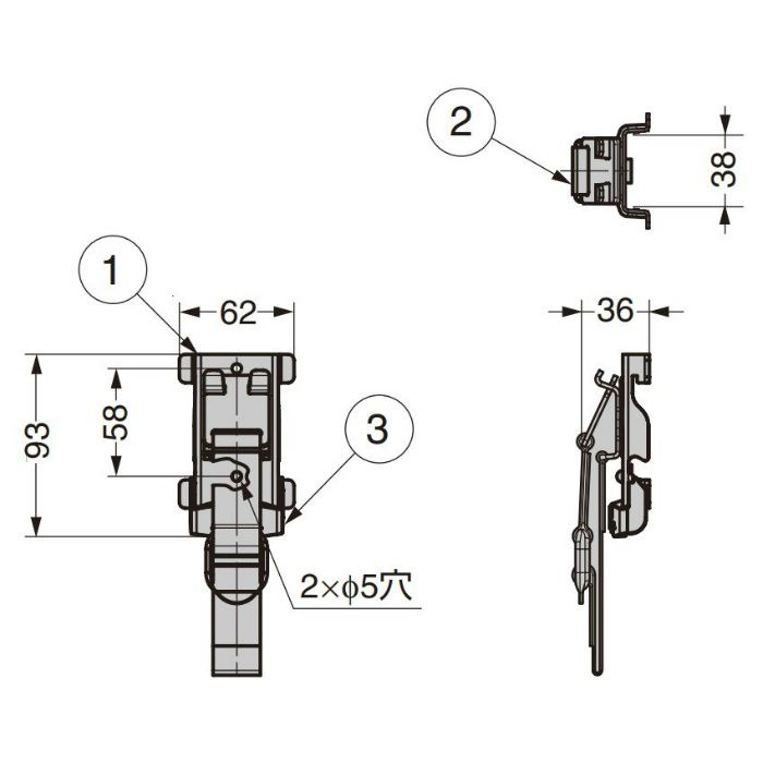 KNAPE & VOGT フック 79TI-ASB ウォールシステム 79TI-ASB