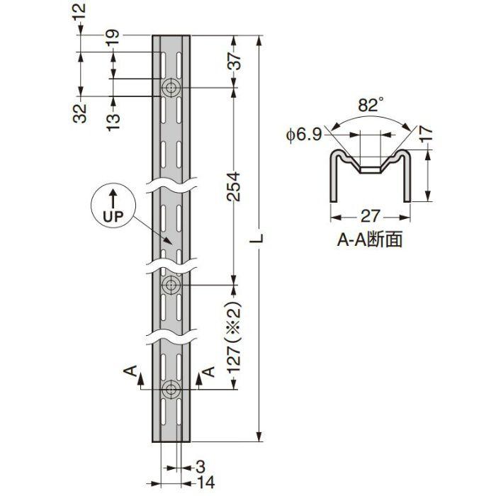 棚受 棚柱 82型 ウォールシステム 82TI-48