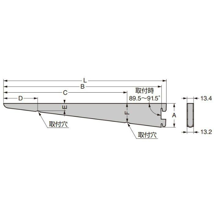 KNAPE&VOGT 棚受 182型 ウォールシステム 182WH-125WT