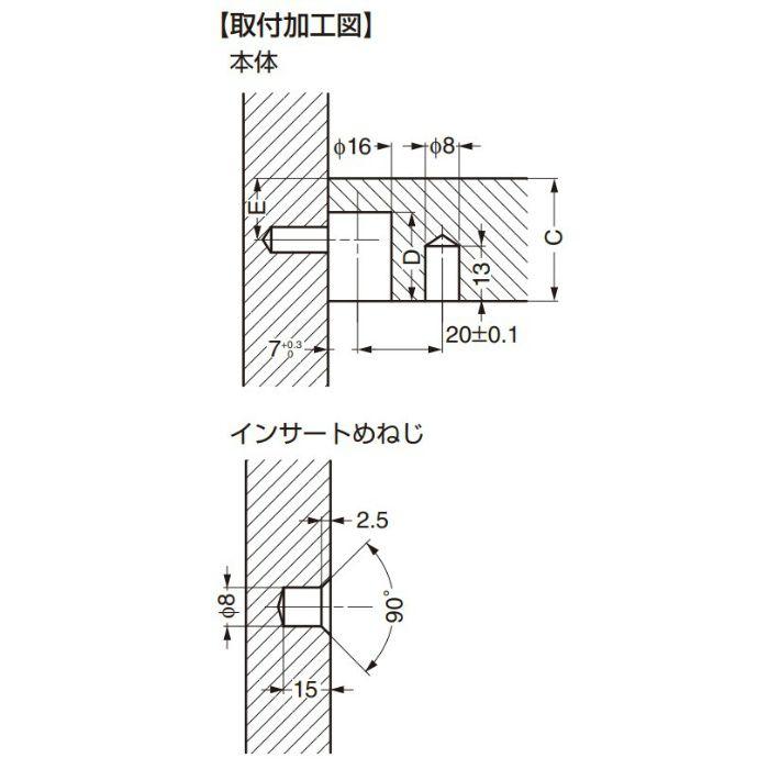 ITALIANA 締結金具 IT1190型 締結金具 IT1190-2010