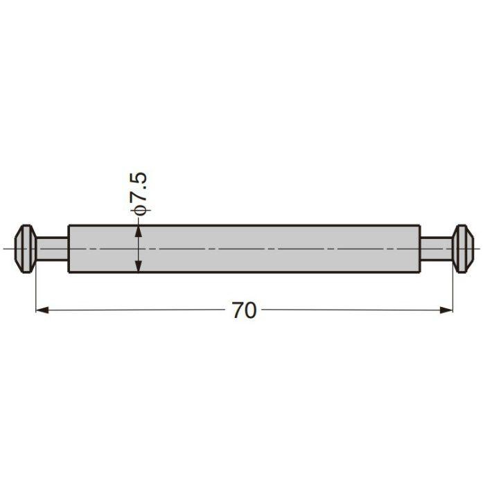 締付円盤用両引シャフト KD-681-70 KD-681-70
