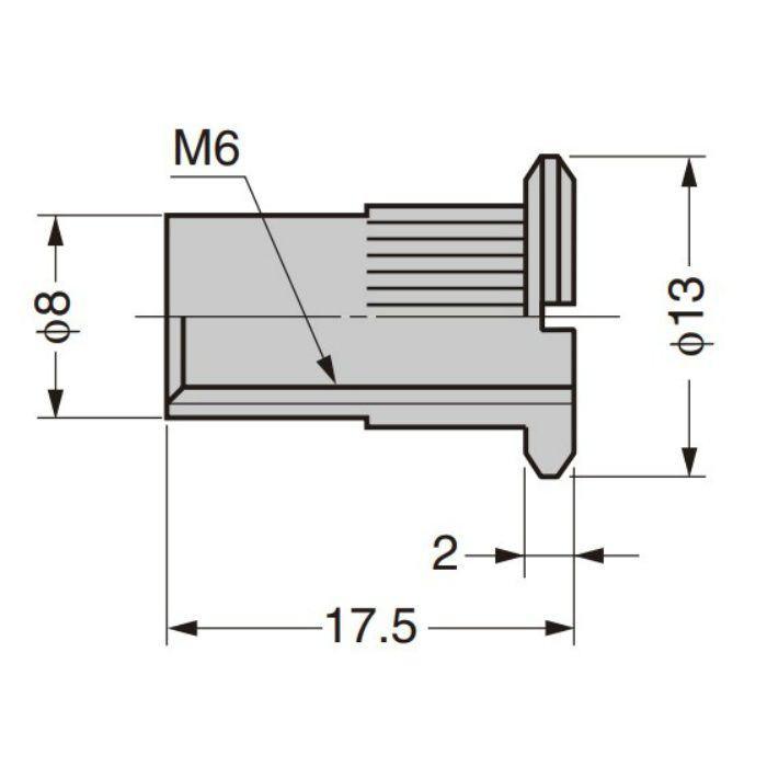 ランプ印 コネクターシステム CS-447型 M6用 CS-447-2