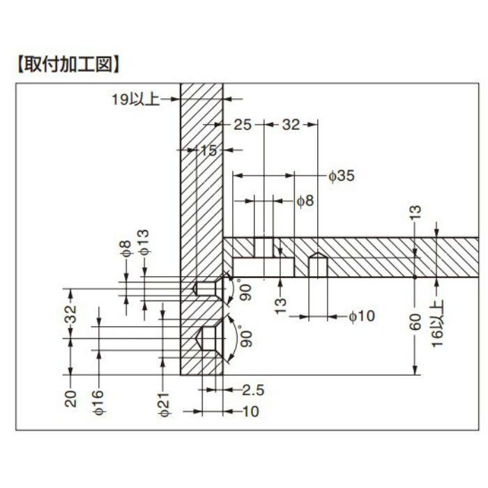 ITALIANA 締結機能付アジャスター IT6568型 IT6568-100P