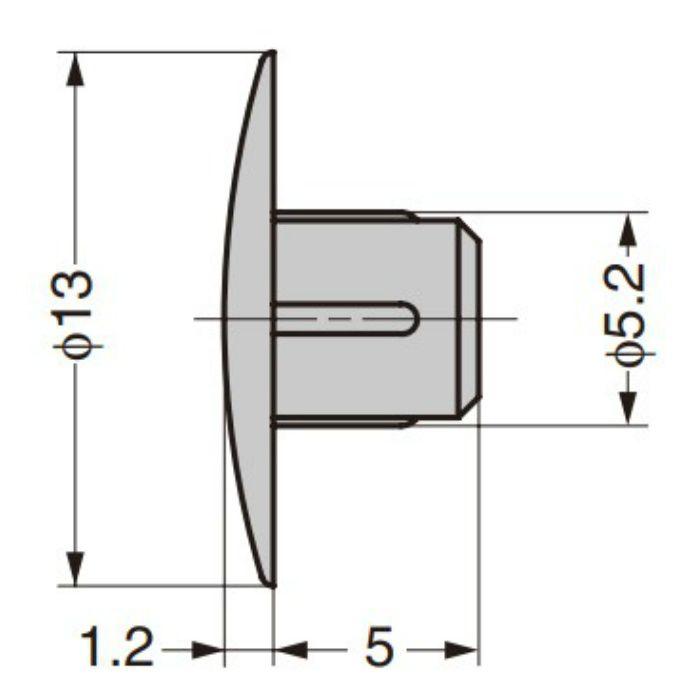 ランプ印 多目的穴埋めキャップ KD-771-6型 アイボリー KD-771-6I