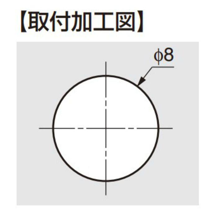 ランプ印 多目的穴埋めキャップ KD-771-65型 グレー KD-771-65GR