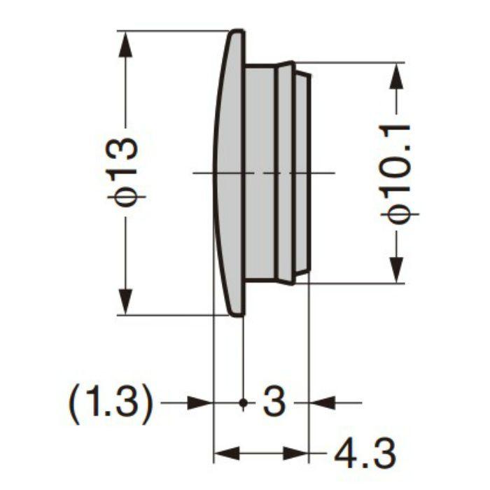 ランプ印 多目的穴埋めキャップ KD-772-3型 ホワイト KD-772-3W