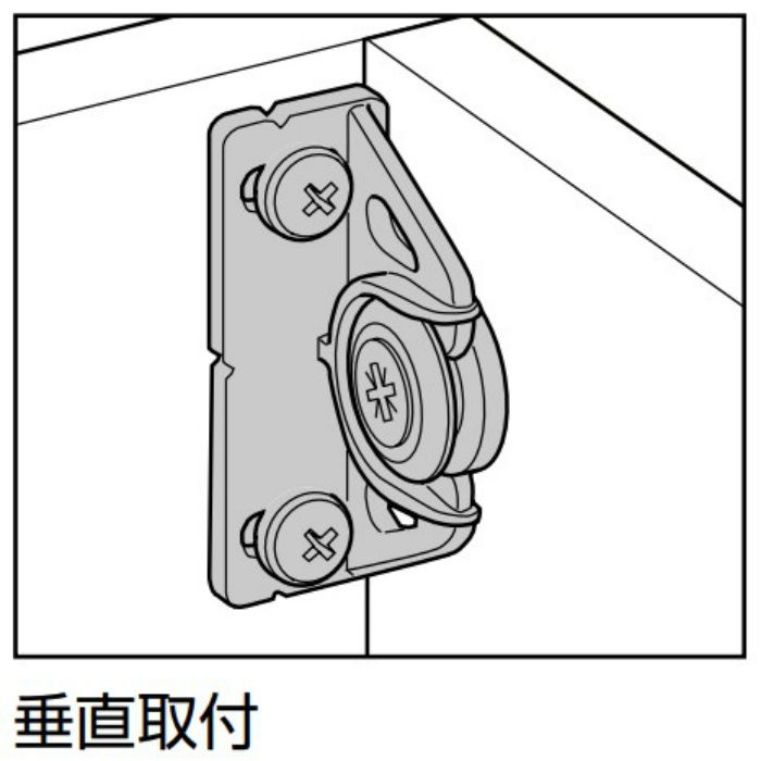 button-fix メスクリップ 垂直取付 171-004-1