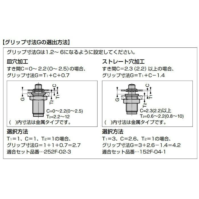 カムロックファスナー 152F型 小型フラッシュタイプ 金属タイプ 152F-06-1