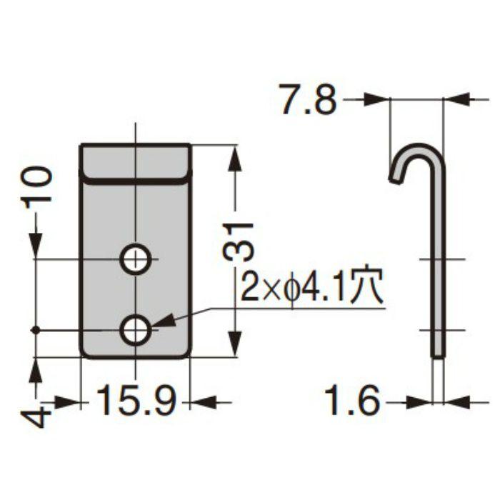 ランプ印 ステンレス鋼製コーナーファスナー STF-C64A/STF-C64B ばね付/ばねなし 受座フック 02-613SS
