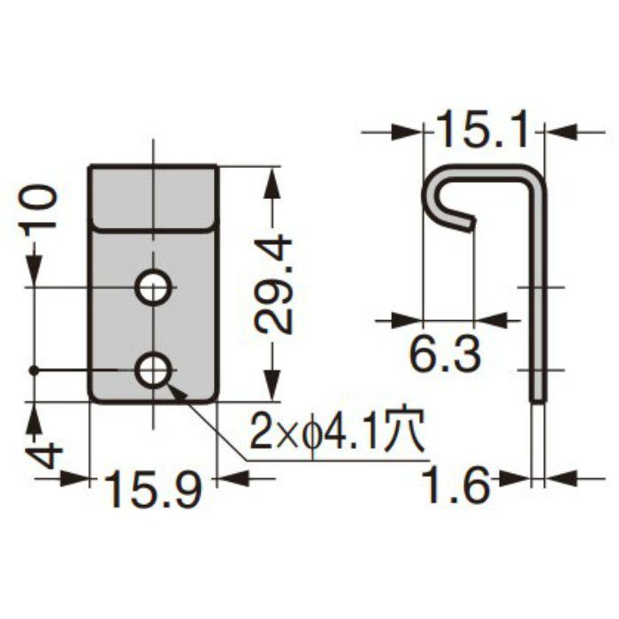 ランプ印 ステンレス鋼製コーナーファスナー STF-C64A/STF-C64B ばね付/ばねなし 受座フック 07-613SS