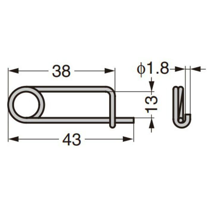 ランプ印 ステンレス鋼製コーナーファスナー STF-C64A/STF-C64B ばね付/ばねなし シーリングピン 502-7SS
