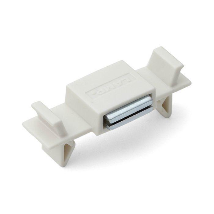 ランプ印 ワンタッチマグネットキャッチ MC-YSW型 簡易装着仕様 ホワイト MC-YSW01W