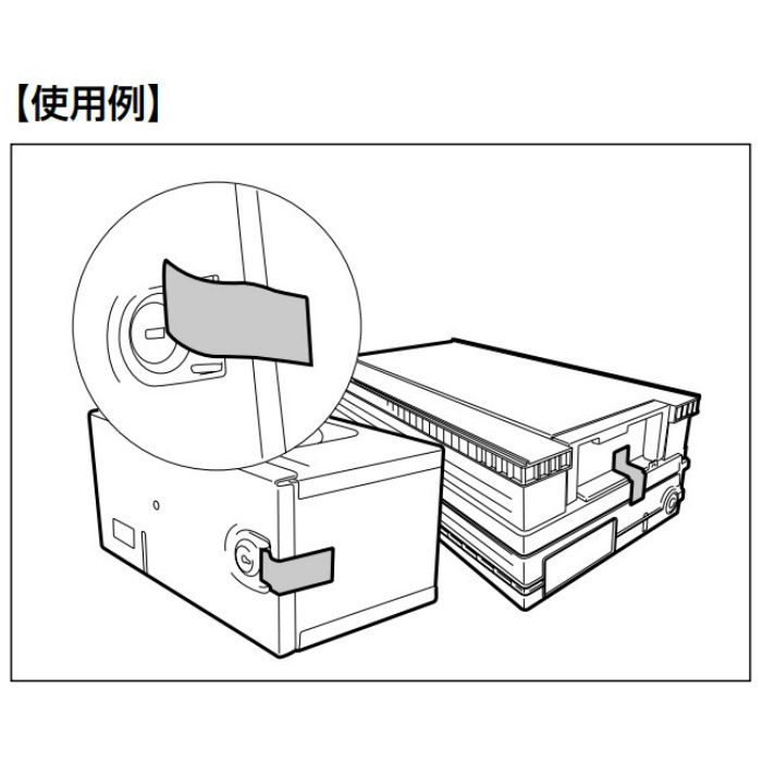封印具 KE型 特殊封印タイプ レッド 100ヶ KE-40NA