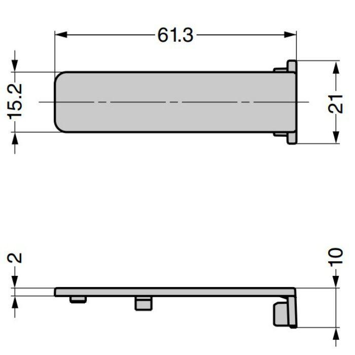 ランプ印 本体カバー J95SC-25型 重量用ワンタッチスライド丁番 J95 25mmかぶせ用 J95SC-25NI