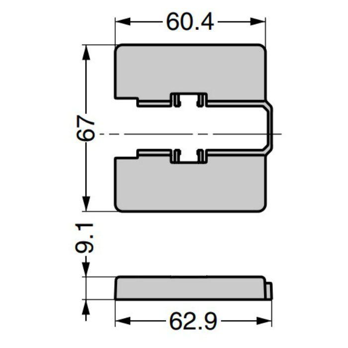 ランプ印 座金カバー J95ZC型 重量用ワンタッチスライド丁番 J95シリーズ用 J95ZC-NI