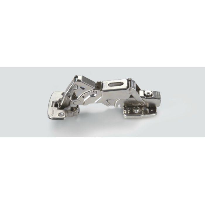 ランプ印 ダンパー内蔵スライド丁番 広角度タイプ W151 150°開き 最大18mmかぶせ/9mmかぶせ/インセット W151-D26-18T