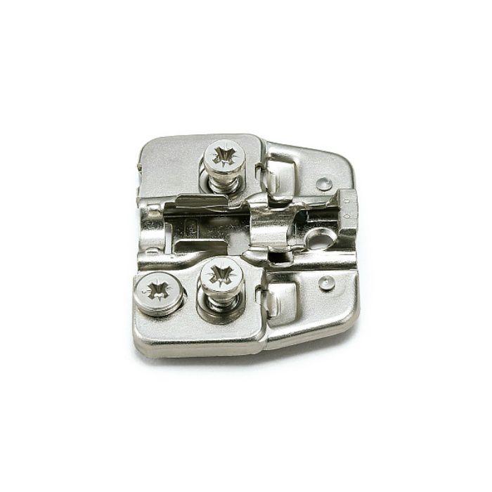 ランプ印 マウンティングプレート 150-P4W-30TH+2 DS6.4×12 151シリーズ システム30、2mm厚、ダイレクトスクリューねじ付 150-P4W-30TH+2 DS6.4×12