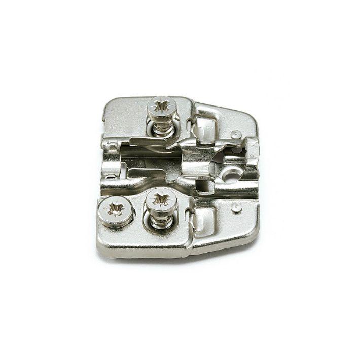 ランプ印 マウンティングプレート 150-P4W-32TH+4 DS6.4×12 151シリーズ システム32・4mm厚、ダイレクトスクリューねじ付 150-P4W-32TH+4 DS6.4×12