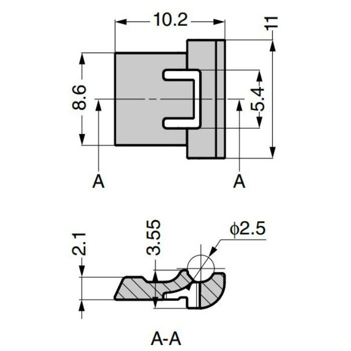 ランプ印 85°開き止めパーツ 151-85 151シリーズ 151-85