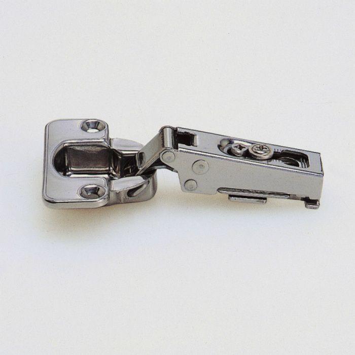 ランプ印 ステンレス鋼製スライド丁番 100 100°開き 19mmかぶせ キャッチ付 100-C46/19 SUS304B