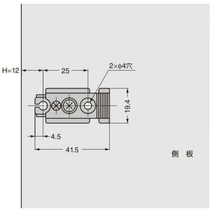 ランプ印 ステンレス鋼製マウンティングプレート 100-P3A-SUS304B 100シリーズ用 スタンダード 100-P3A-SUS304B