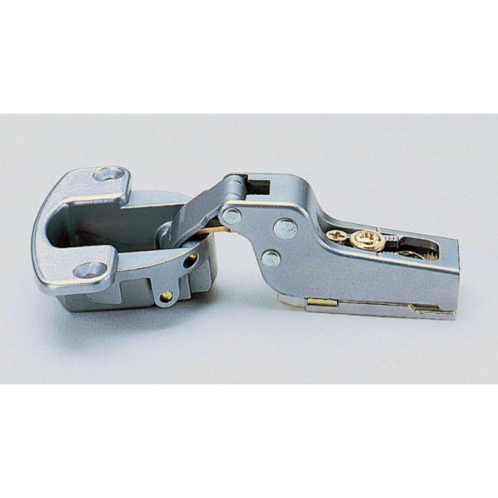 ランプ印 スライド丁番 厚扉用 H100 100°開き 16mmかぶせ キャッチ付 H100-C34/16