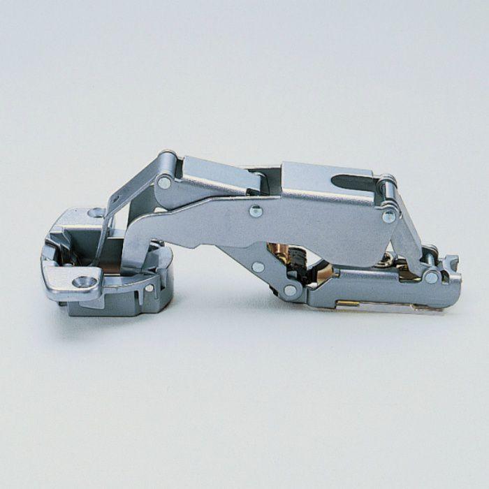 ランプ印 スライド丁番 厚扉用 H160 160°開き 28mmかぶせ キャッチなし H160-34/28