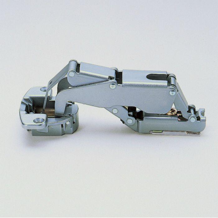 ランプ印 スライド丁番 厚扉用 H160 160°開き 23mmかぶせ キャッチ付 H160-C34/23