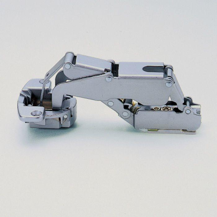 ランプ印 スライド丁番 厚扉用 H160 160°開き 18mmかぶせ キャッチ付 H160-C34/18