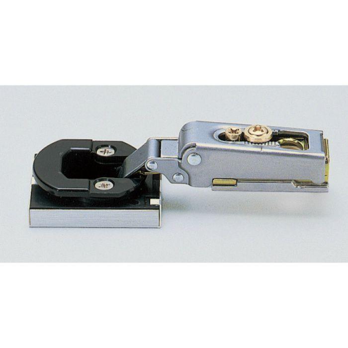 ランプ印 スライド丁番 ガラス扉用 GM100 96°開き 19mmかぶせ キャッチなし GM100-32/19