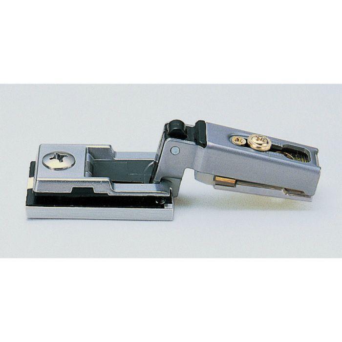 ランプ印 スライド丁番 ガラス扉用 G100 100°開き 14mmかぶせ キャッチ付 G100-34/14