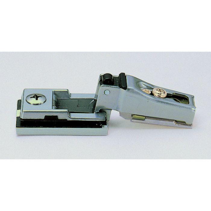 ランプ印 スライド丁番 ガラス扉用 G100 100°開き 9mmかぶせ キャッチ付 G100-34/9