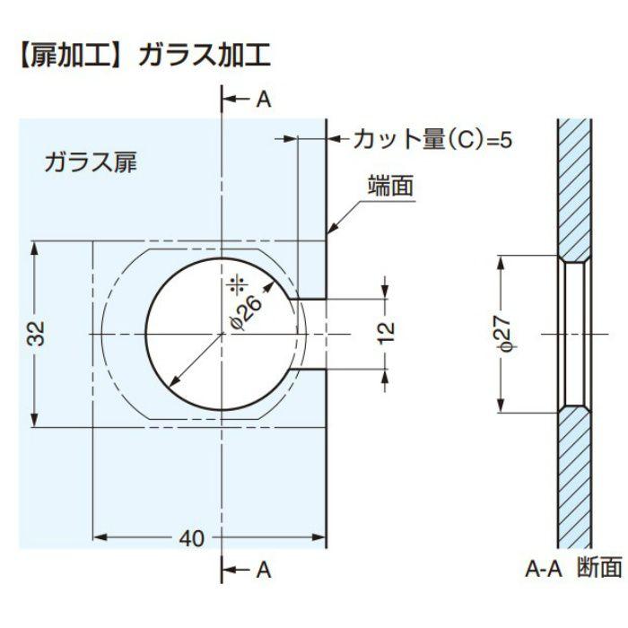 ランプ印 GM100用 正面プレート GM100-006型 GM100-006BTS