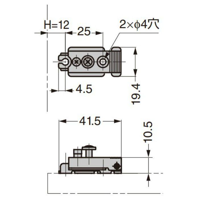 ランプ印 マウンティングプレート 100-P3A 100-P3A