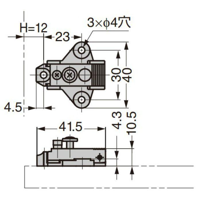 ランプ印 マウンティングプレート 100-02A-30 100シリーズ システム30 100-02A-30
