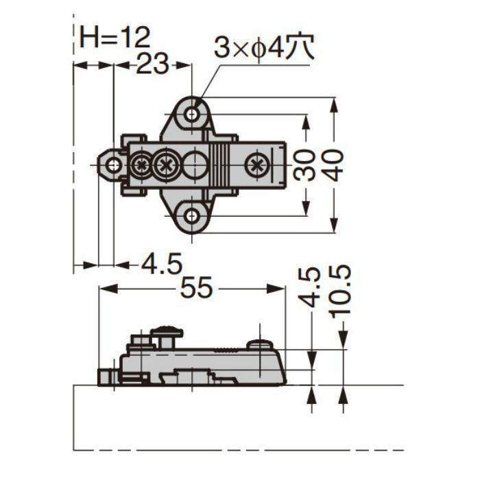 ランプ印 マウンティングプレート 100-04W-30 100シリーズ システム30 100-04W-30