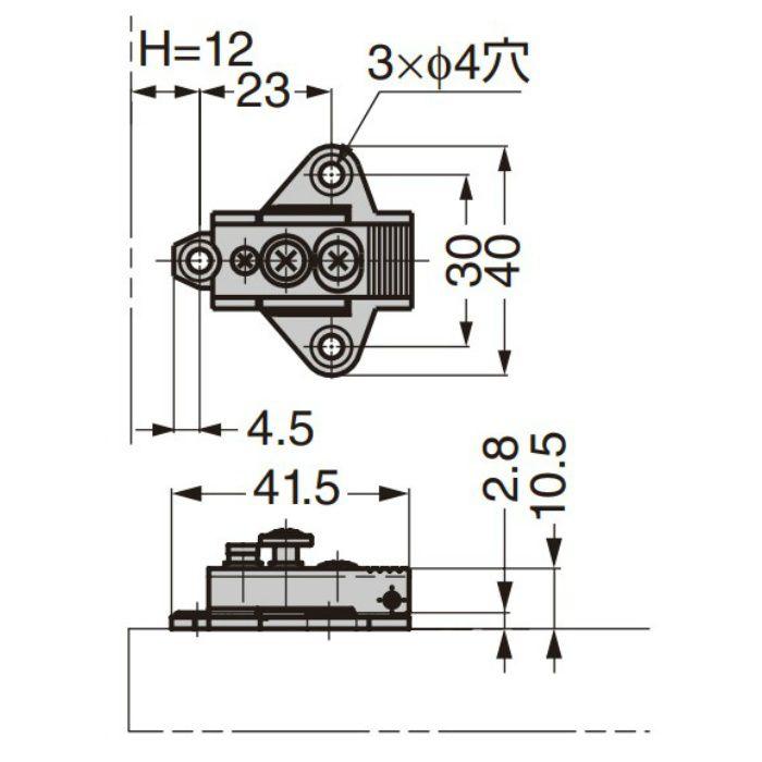 ランプ印 マウンティングプレート 100-04A-W-30 100シリーズ システム30 100-04A-W-30